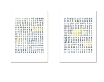 minimalist art, set of 2 prints, modern art, gray watercolor prints, set of 2 Watercolor paintings, abstract paintings, watercolor prints