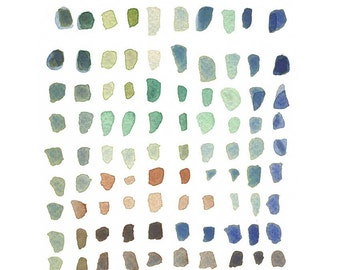 watercolor Modern minimalist print, little dots watercolor painting