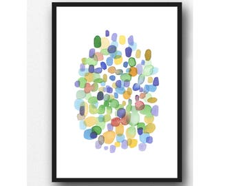 Colorful Art, Watercolor Print, Abstract Watercolor print, colorful painting, Contemporary Wall Art