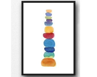 Baby Boy Nursery Wall Art, Colorful Children's Wall art, Nursery Decor, New Baby Gift