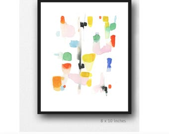 Colorful Abstract Art, Colorful Art, Watercolor Print, Abstract Watercolor print, colorful painting, Contemporary Wall Art