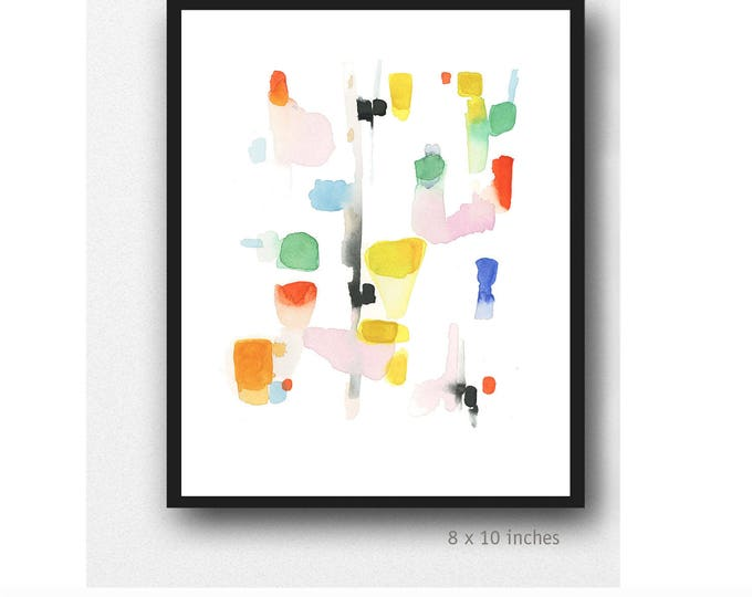Featured listing image: Colorful Abstract Art, Colorful Art, Watercolor Print, Abstract Watercolor print, colorful painting, Contemporary Wall Art