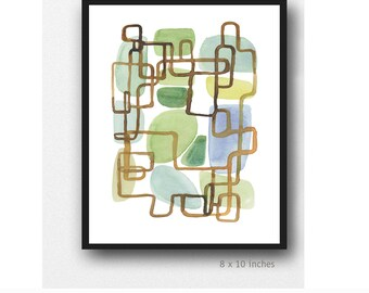 Giclee print of watercolor painting Modern art Abstract Art Neutral Wall art brown Abstract watercolor print
