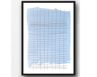 Abstract Drawing, Graphite Drawing, Modern Wall Art, Minimalism, Abstract Art