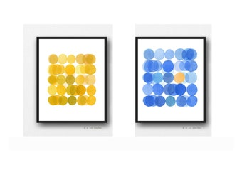 Set of 2 Colorful Prints, Affordable Artwork, Kitchen Decor