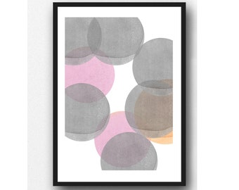 Moon Art, Abstract Watercolor Print, Abstract Minimal Art, Minimalist Art , Scandinavian Design, Modern Home Decor