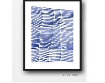 Minimalist wall art, Abstract painting blue white, Abstract Print, Modern Print, Minimal Print, minimalist art