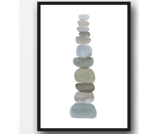 Featured listing image: Pebble art print, Earth inspired Art, Modern minimalist print, Instant Download, Printable Artwork, Printable Wall Art, Digital Download