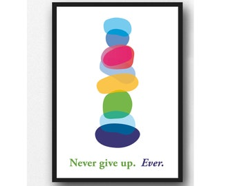 Inspirational Kids Art Print, Colorful Wall Hanging, Children's room Nursery Art Wall