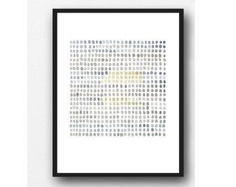 Gray and Yellow Art, Original Abstract Watercolor Painting, Minimalist Painting on Fabriano paper