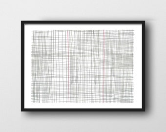 Graphite Drawing, Modern Art Drawing, Abstract Wall Art, Gray white Art, Minimalism, Abstract Art