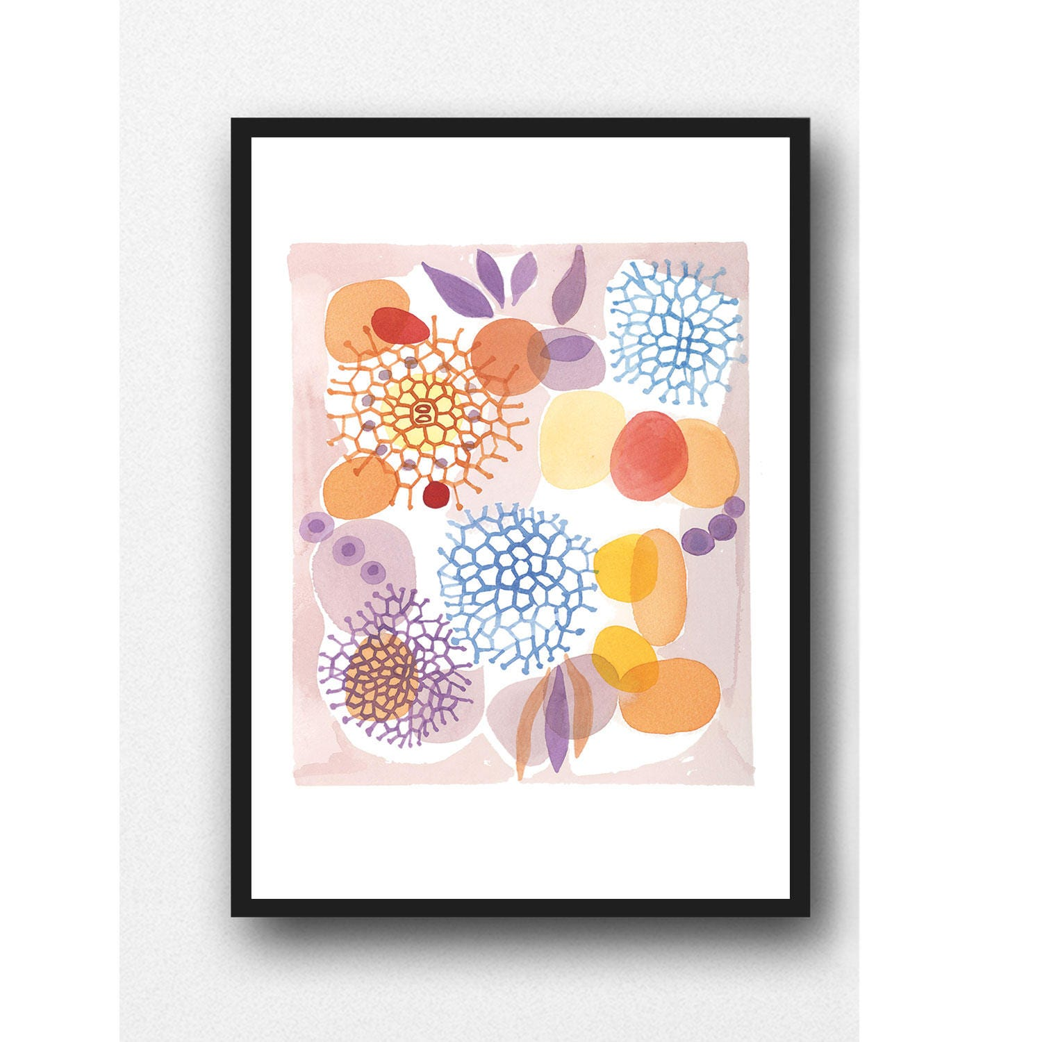 Colorful Wall Art Watercolor Print Watercolor Painting