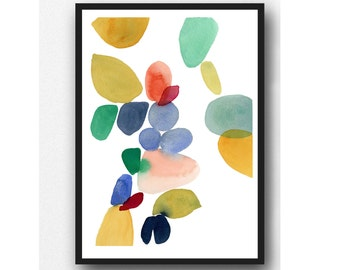Modern art painting, Abstract Art print, Wall art, Abstract painting, Watercolor Print, Large print, watercolor home decor