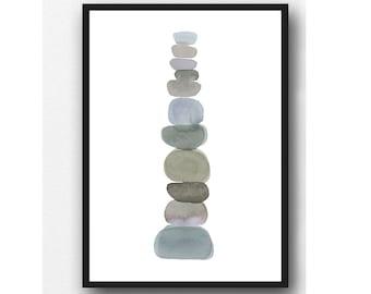 Pebble art print, Earth inspired Art, Modern minimalist print, Instant Download, Printable Artwork, Printable Wall Art, Digital Download