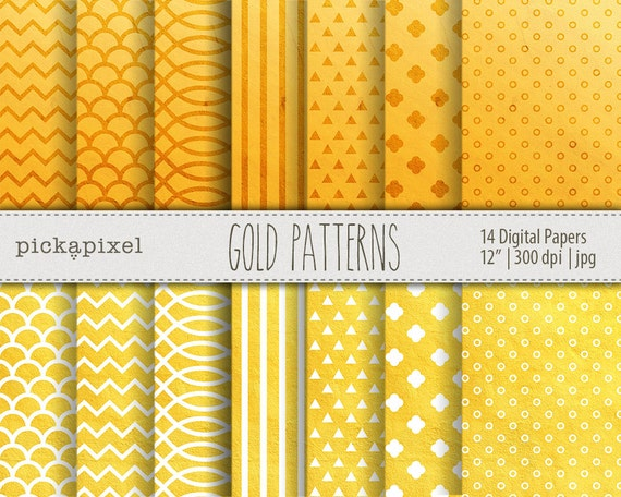 Yellow And White Digital Papers Textured Papers Etsy