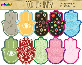 Hamsa - digital clip art - Personal and Commercial Use