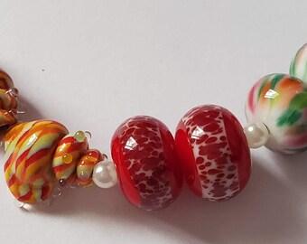 Artisan Lampwork Beads - SAMPLER Pairs