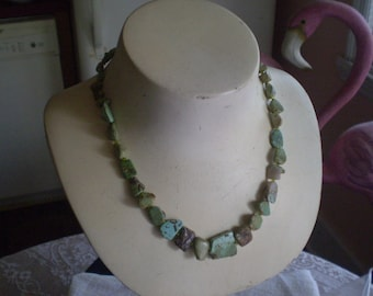 Nevada TURQUOISE NECKLACE with Polished Irregular Pieces