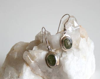 Sterling Olive Gray Olive Earrings