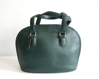 Green Coach Rounded Handbag Satchel