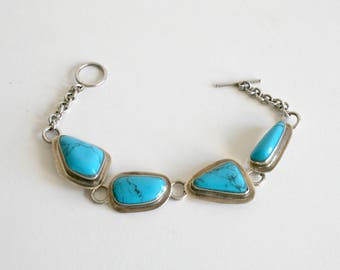 Mexican Turquoise Sterling Bracelet