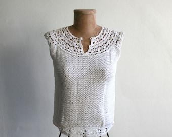 Crochet Knit Blouse