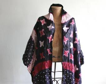 Purple Magenta Batik Printed Cotton Shawl
