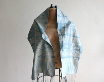 Laos Handwoven Silk Ikat Scarf