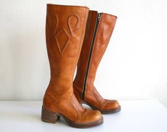 51b2306b44b Frye 70s Tall Campus Boots 6