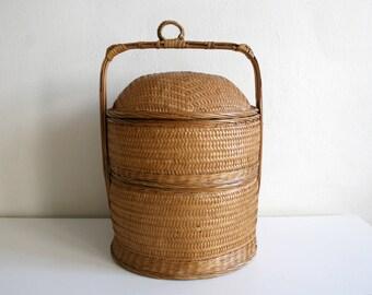 Large Chinese Stacking Baskets