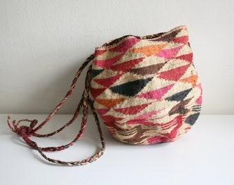 Patterned Sisal Bag