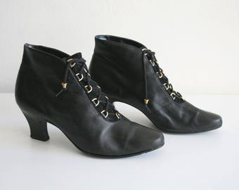 Enzo Angiolini Black Lace up Boots 7