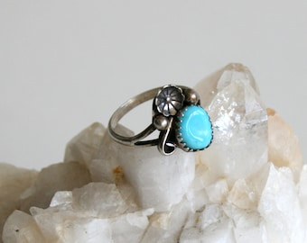 Sleeping Beauty Turquoise Native American Ring 5.5