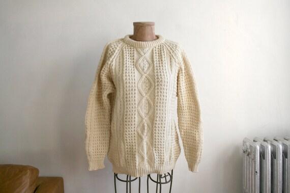 Handmade Irish Wool Fisherman Sweater