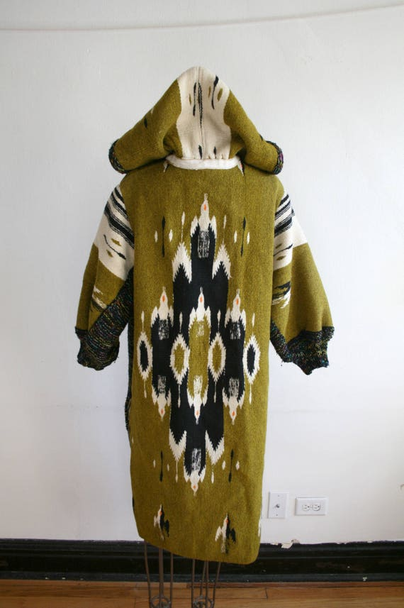 RARE Chimayo Thunderbird Long Wool Coat