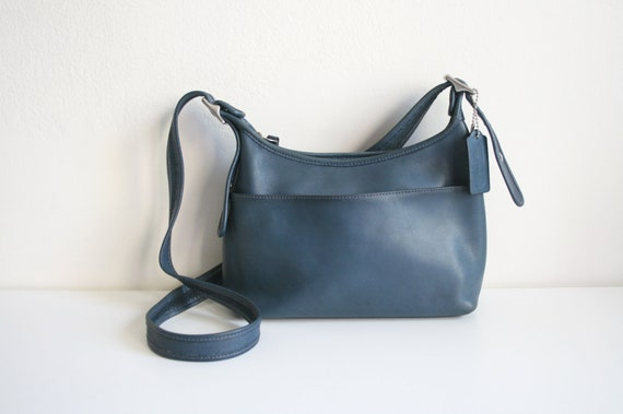 Coach Legacy Pocket Hobo Bag | Blue Leather