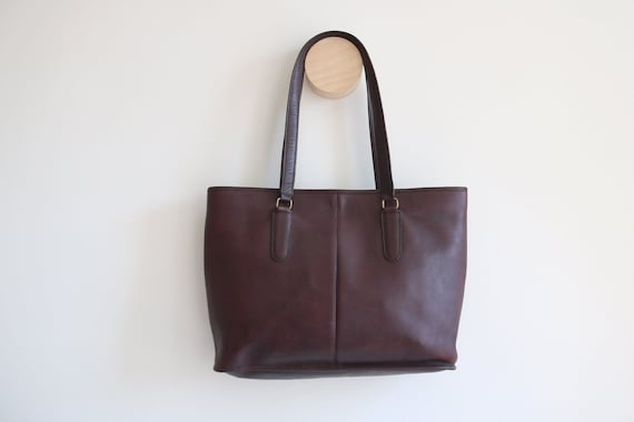 Coach Bonnie Cashin NYC Tote Bag   Burgundy Leath… - image 1