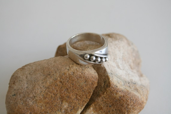 Mexican Modernist Sterling Silver Ring | size 8.5