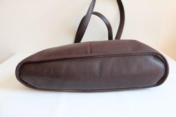 Coach Bonnie Cashin NYC Tote Bag   Burgundy Leath… - image 4