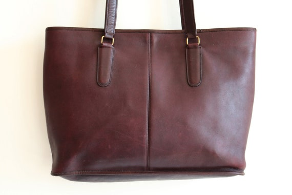 Coach Bonnie Cashin NYC Tote Bag   Burgundy Leath… - image 2