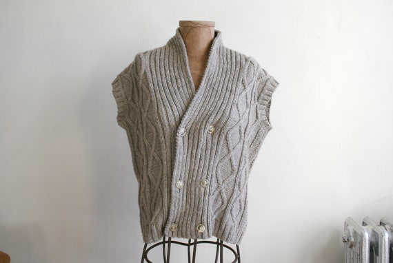 Mushroom Knit Wool Vest