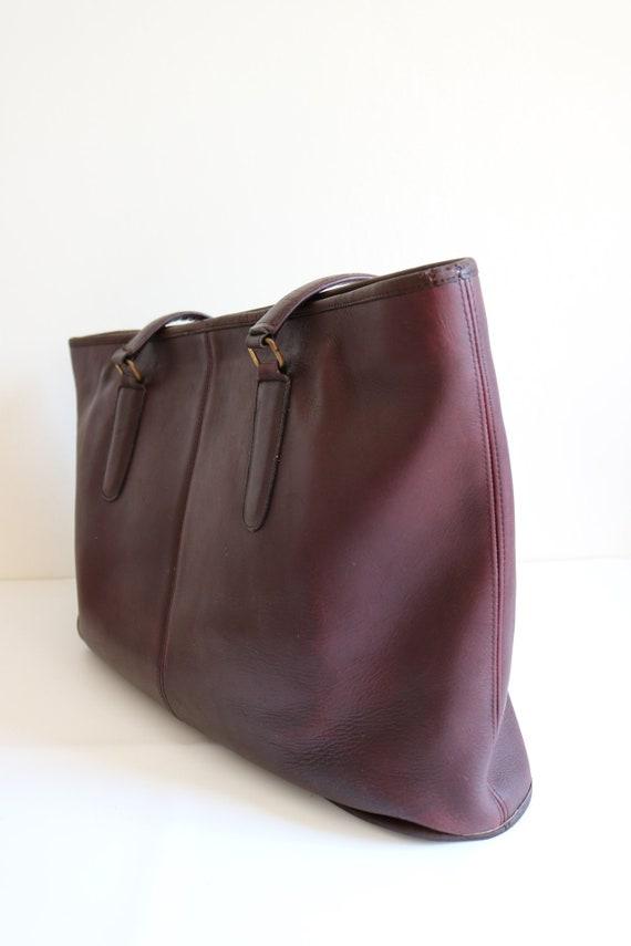 Coach Bonnie Cashin NYC Tote Bag   Burgundy Leath… - image 5