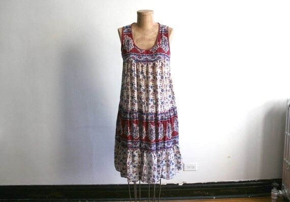 Indian Cotton Block Print Tent Dress
