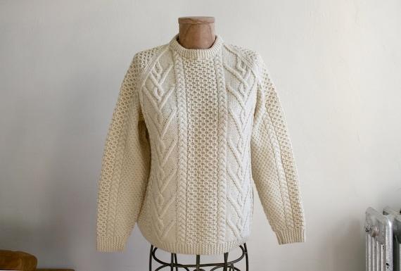 Handmade British Wool Fisherman Sweater