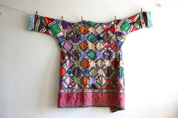 Uzbekistan Colorful Vintage Textile Heavy Quilt Ro