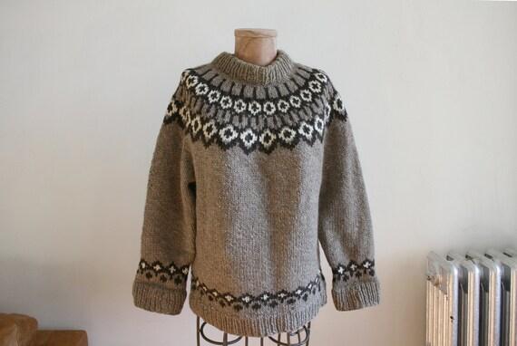 Mushroom Fair Isle Sweater