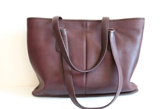 Coach Bonnie Cashin NYC Tote Bag   Burgundy Leath… - image 3