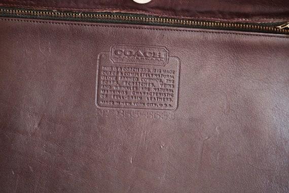 Coach Bonnie Cashin NYC Tote Bag   Burgundy Leath… - image 9