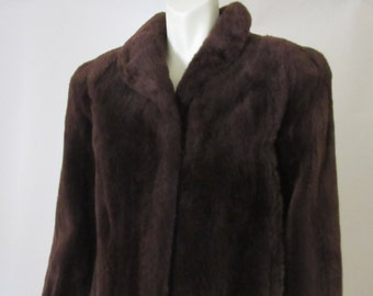 1940s Vintage Beaver Fur Coat