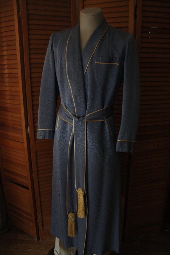 1930s A-Sulka & Company Silk Dressing Robe